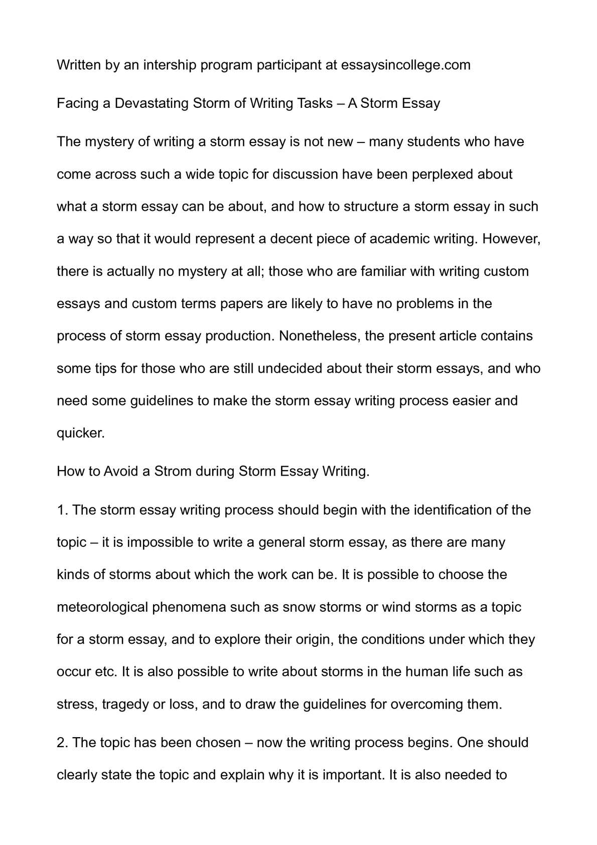 facing a devastating storm of writing tasks a storm essay