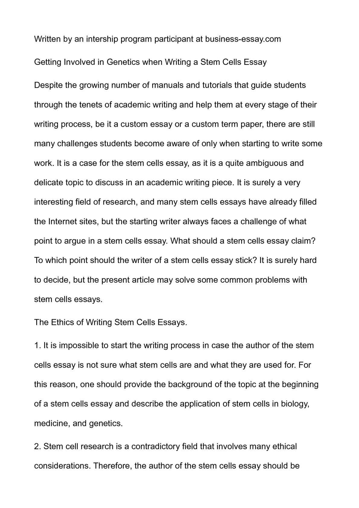 Write contradictory essay