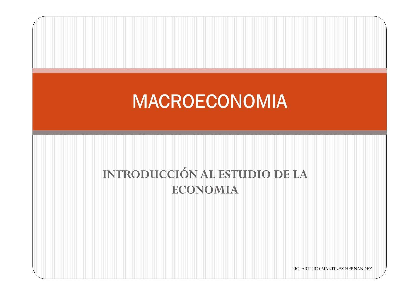 1.-INTRODUCCION AL ESTUDIO DE LA ECONOMIA