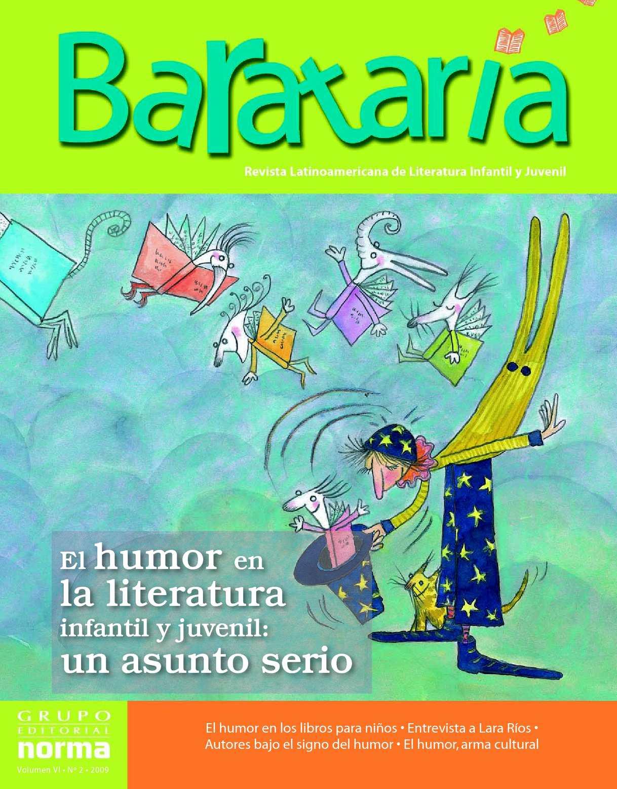 Calameo Barataria N 11 El Humor En La Literatura Infantil Y Juvenil Un Asunto Serio