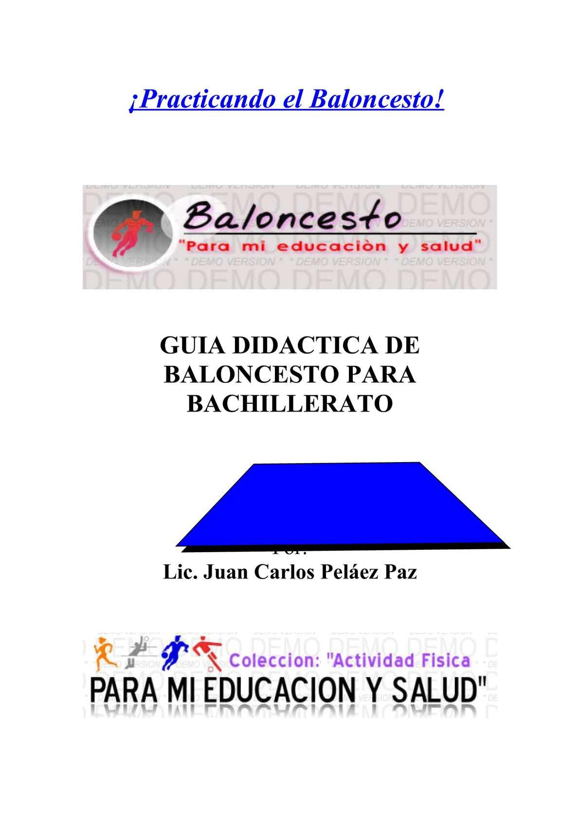 GUIA DIDACTICA DE BALONCESTO PARA BACHILLERATO