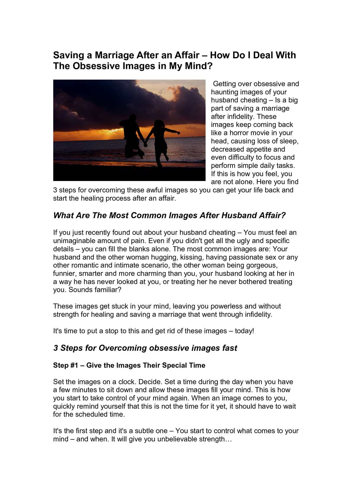 How to start over after an affair
