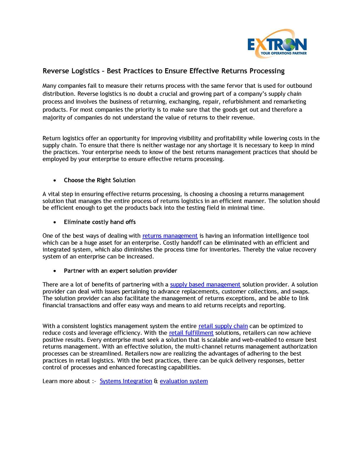 Calaméo - Reverse Logistics – Best Practices to Ensure