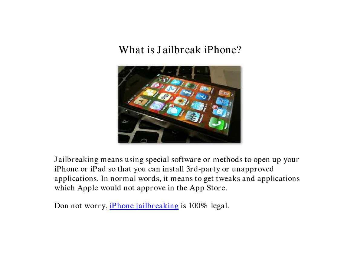 Calaméo - What is Jailbreak and Unlock iPhone?