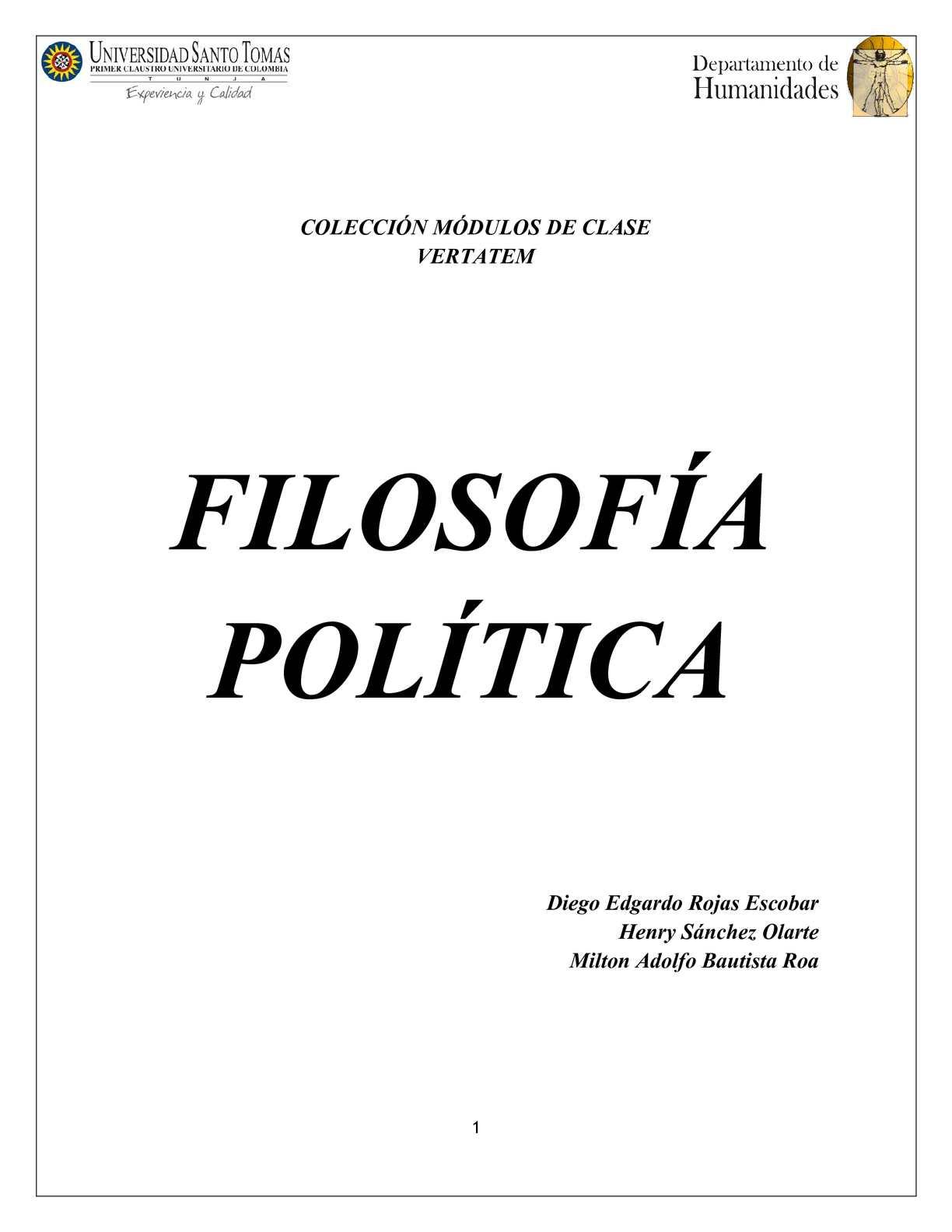 Calaméo Modulo Filosofía Política