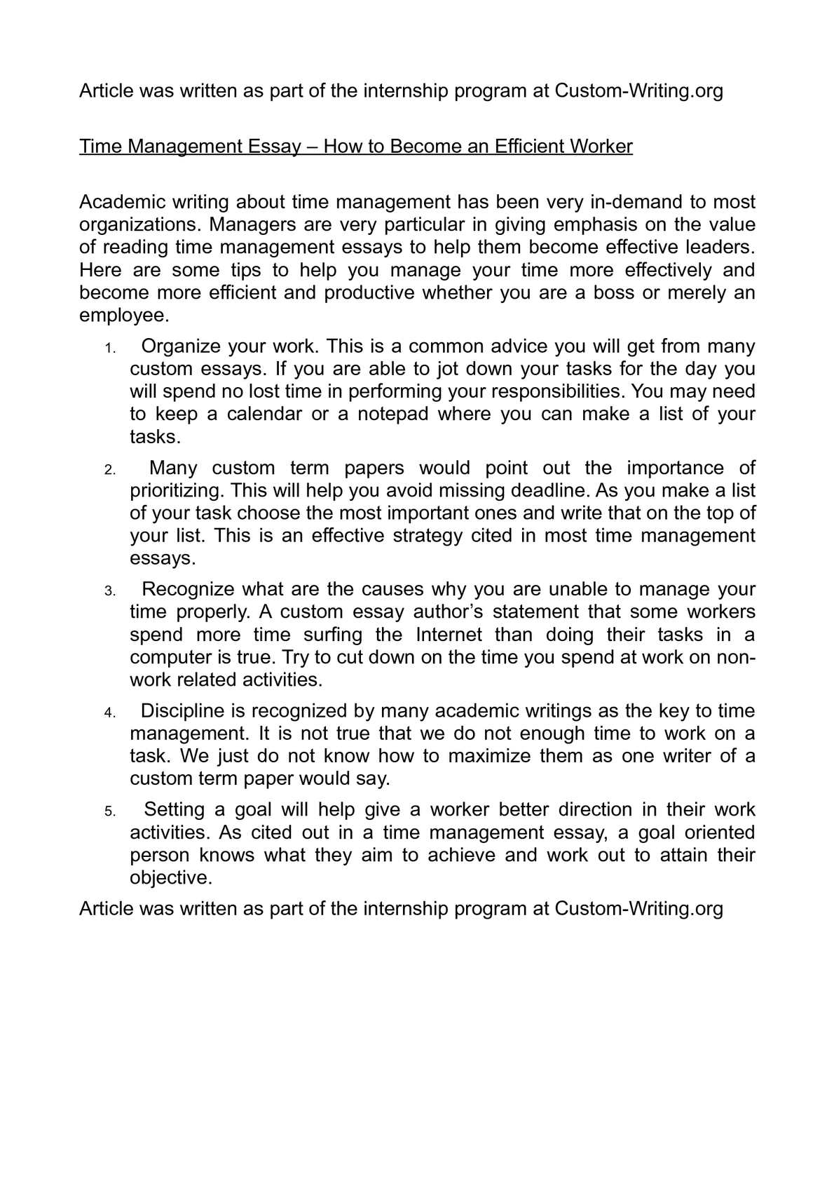 Thesis Statement For Essay  Essay On English Teacher also 5 Paragraph Essay Topics For High School Calamo  Time Management Essay  How To Become An Efficient  Health Care Essay Topics