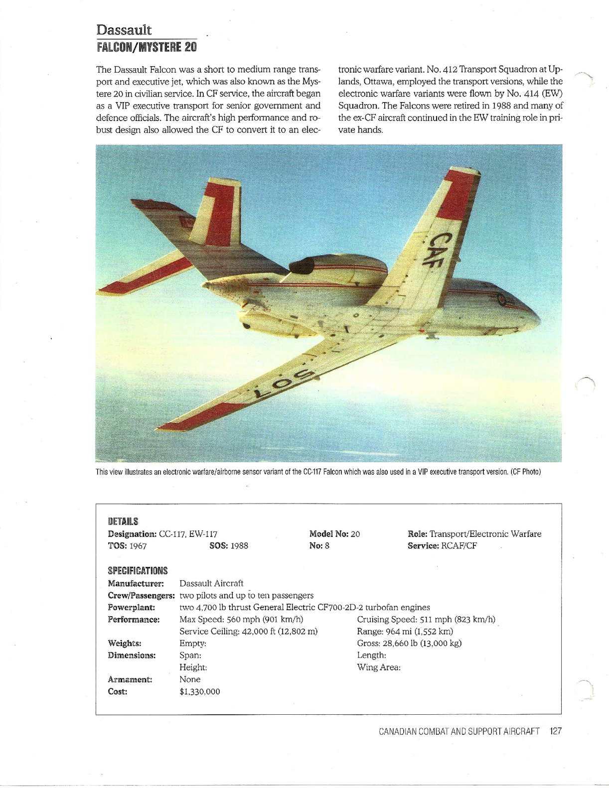 Calaméo - C-16 Dassault Falcon Mystere 20