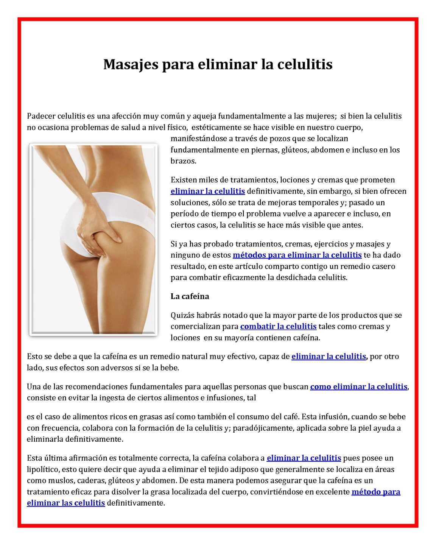 Tratamientos eliminar celulitis piernas