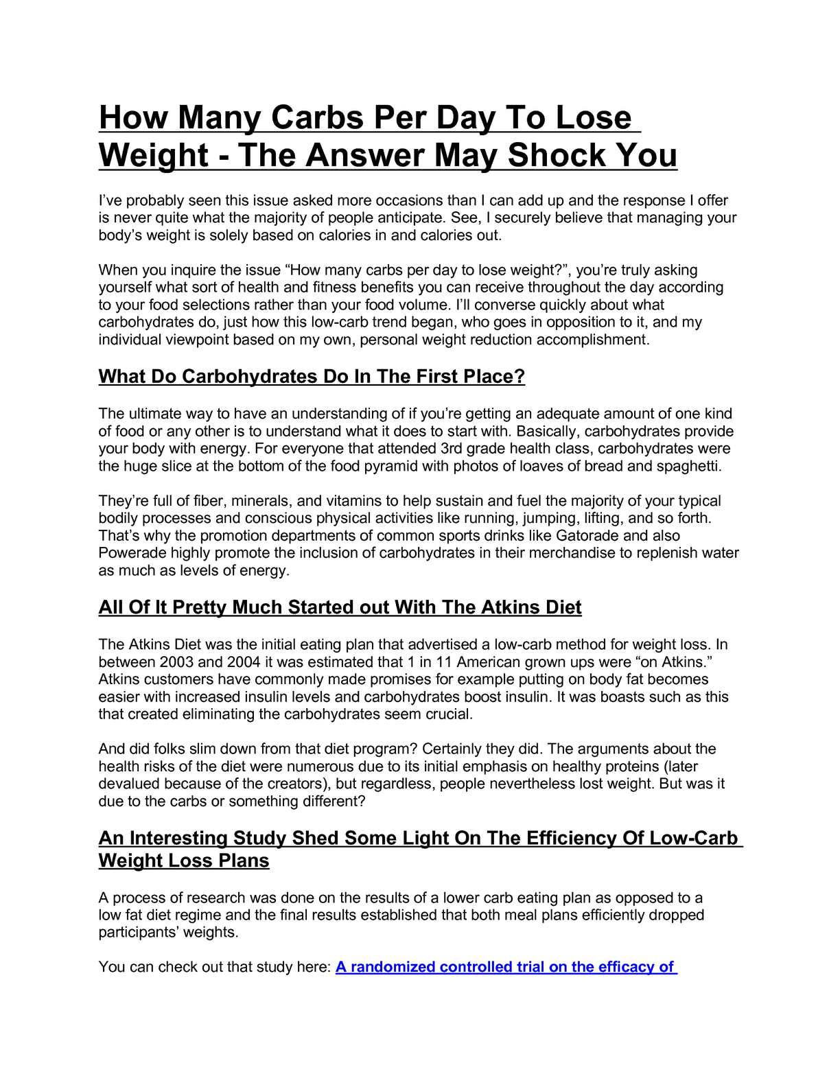 how many carbs should i eat to lose weight quickly
