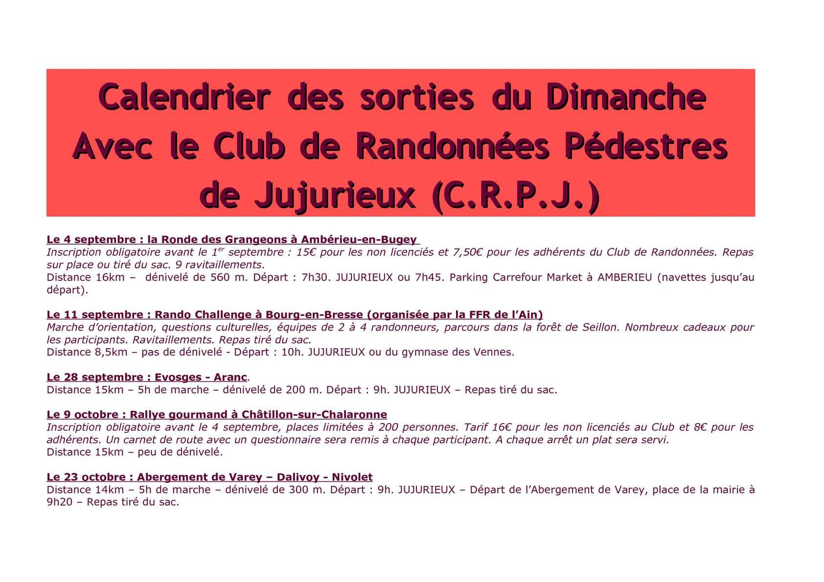 74936745b598 Calaméo - Calendrier des randonnées pédestres du CRPJ