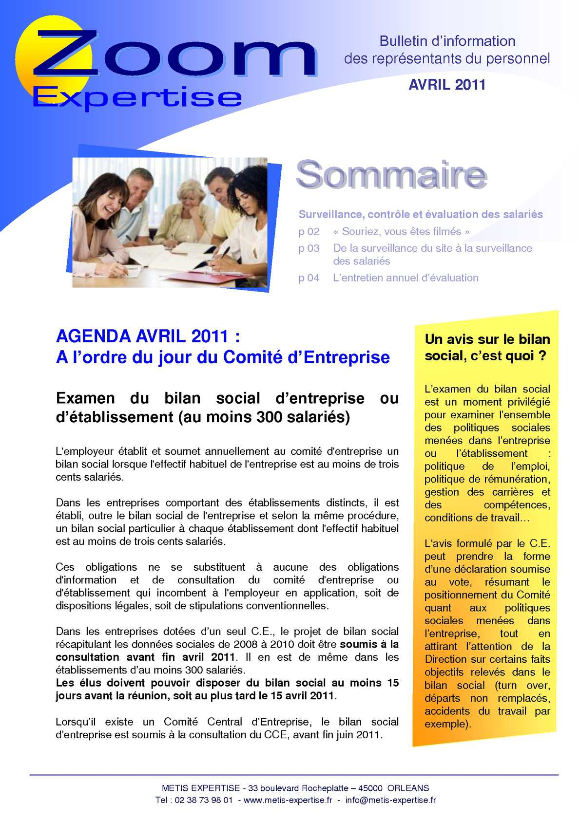 Calameo Newsletter Avril 2011