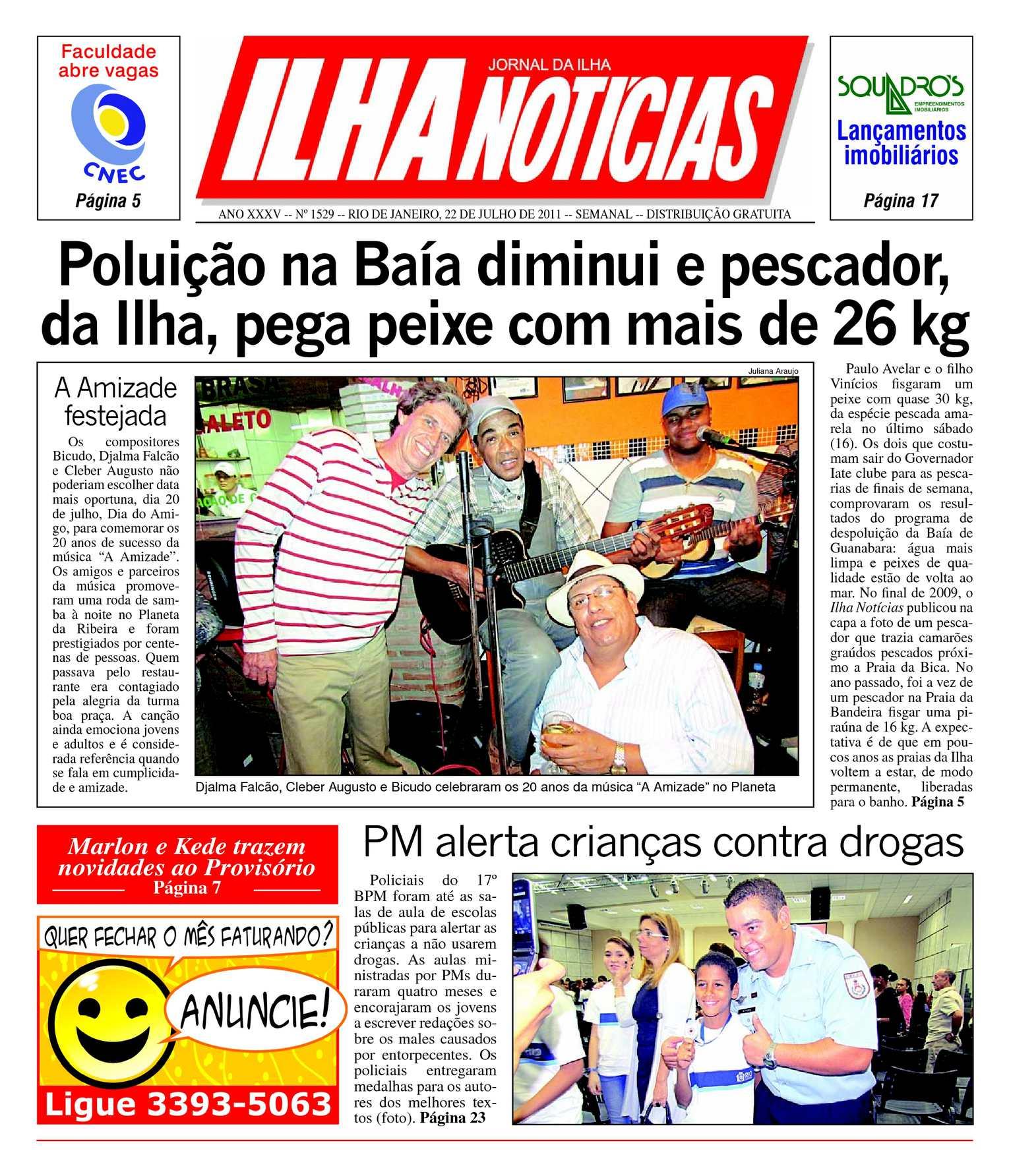 6705b45a4a5 Calaméo - Jornal Ilha Notícias - Edição 1529 - 22 07 2011