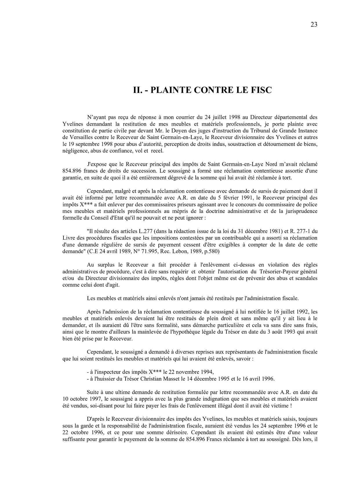 Calameo Plainte Fiscale