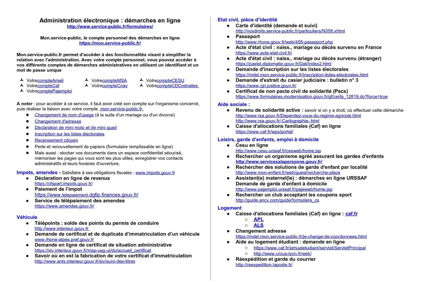 Calameo Administration Electronique