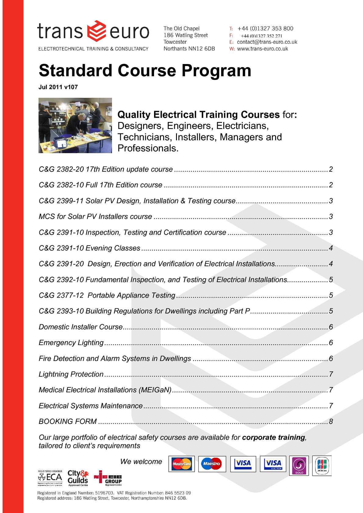 PART P CITY /& GUILDS 2393 Exam Revision Electricians Building Regulations EAL