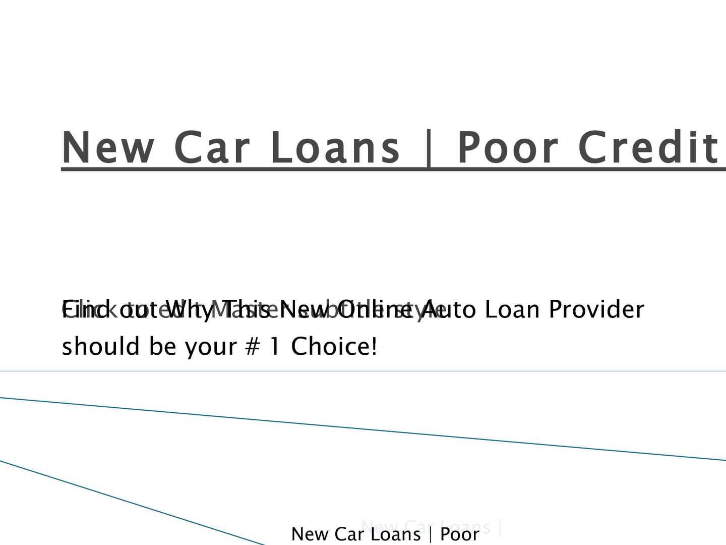Calameo New Car Loans Refinance Auto Loans Poor Credit Auto
