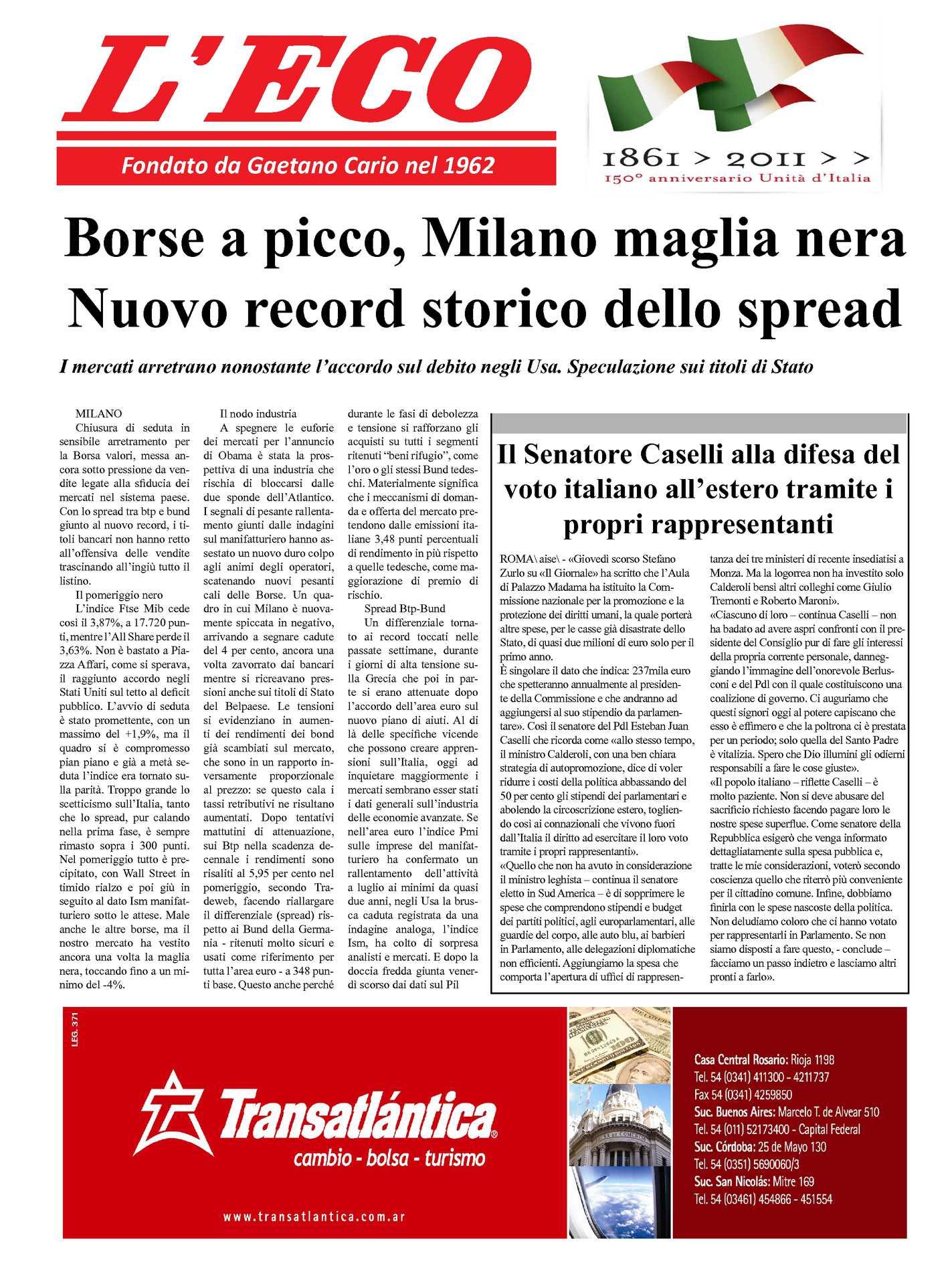 6d6c920d9b Calaméo - L'eco d'Italia 05-08-2011