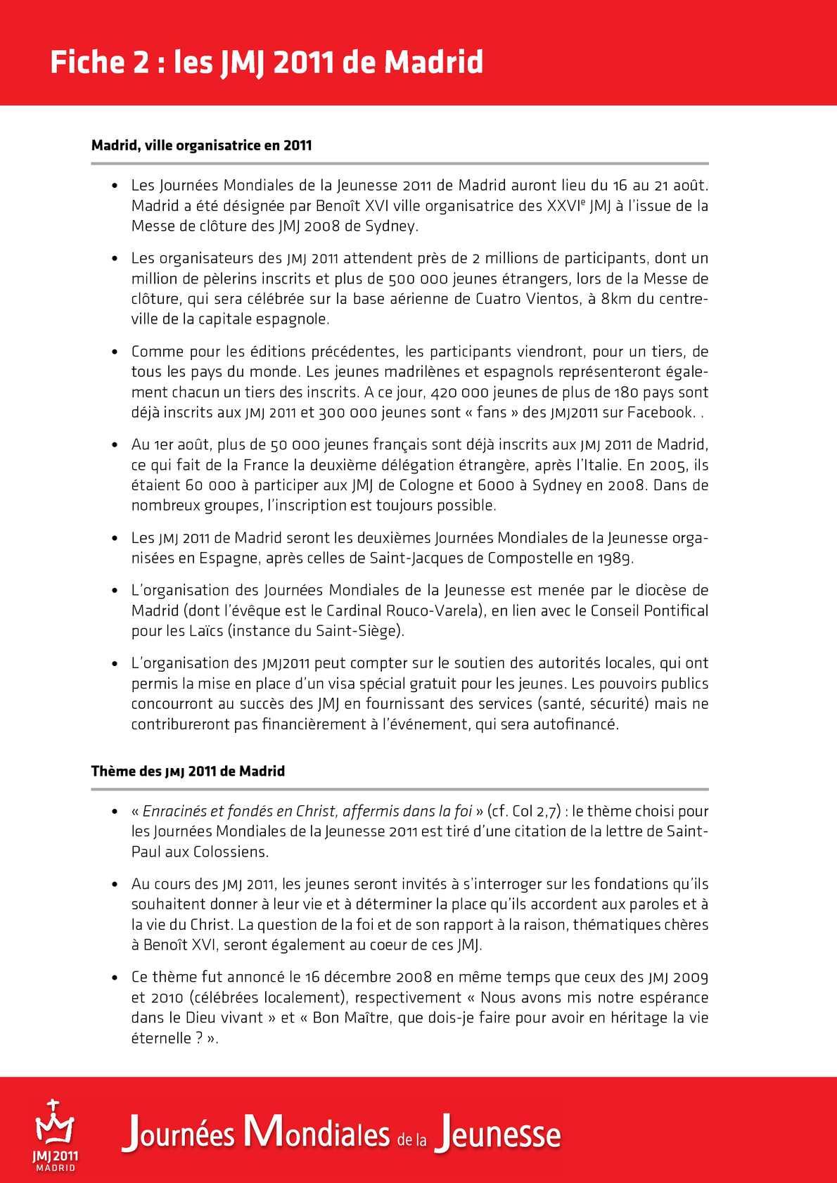 Jmj 2011 Dossier De Presse Calameo Downloader