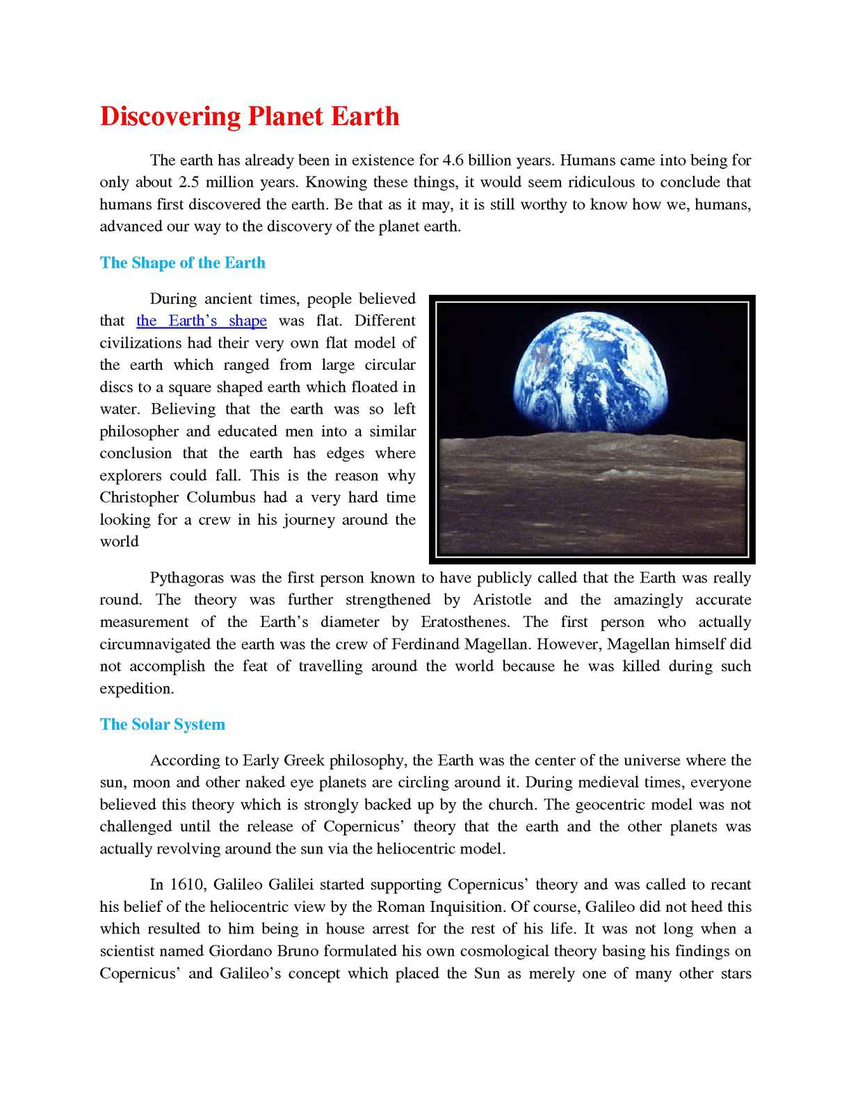 Calaméo - Facts about Planet Earth