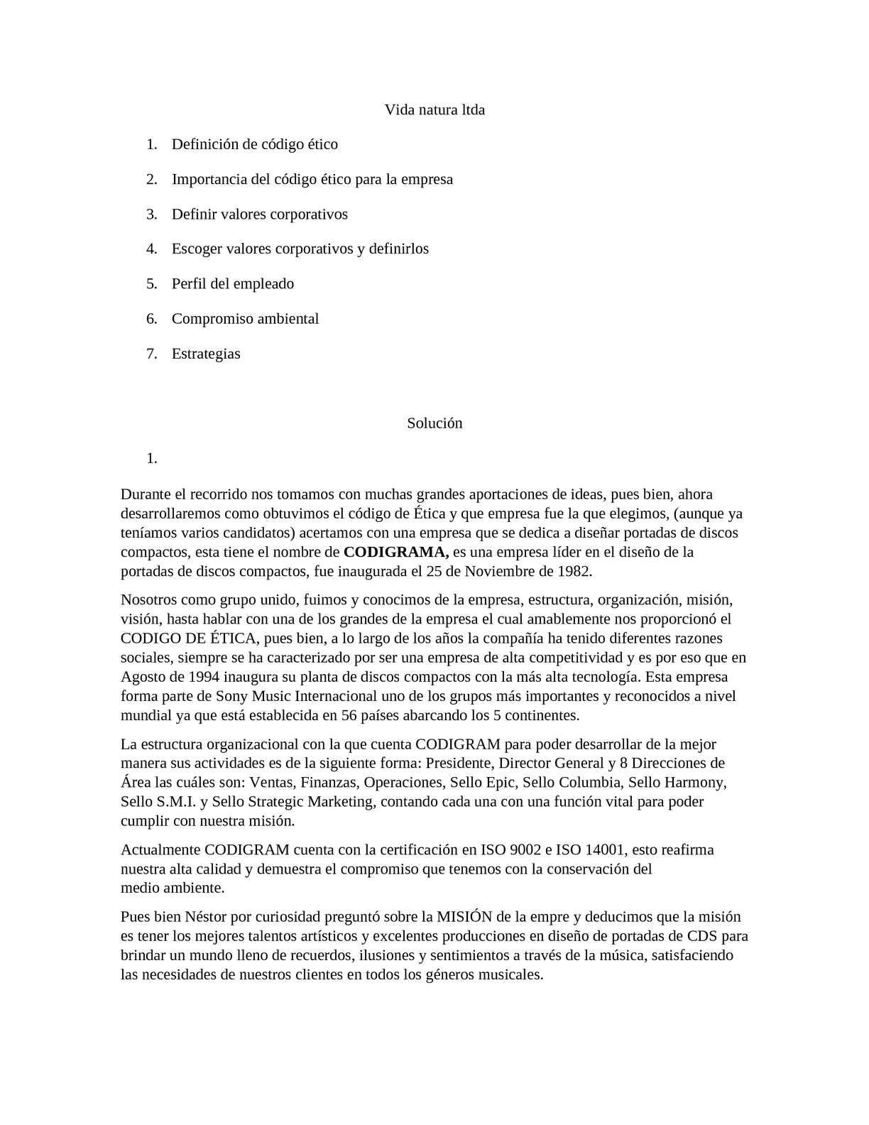 Calaméo Valores Corporativos De Vida Natura Ltda