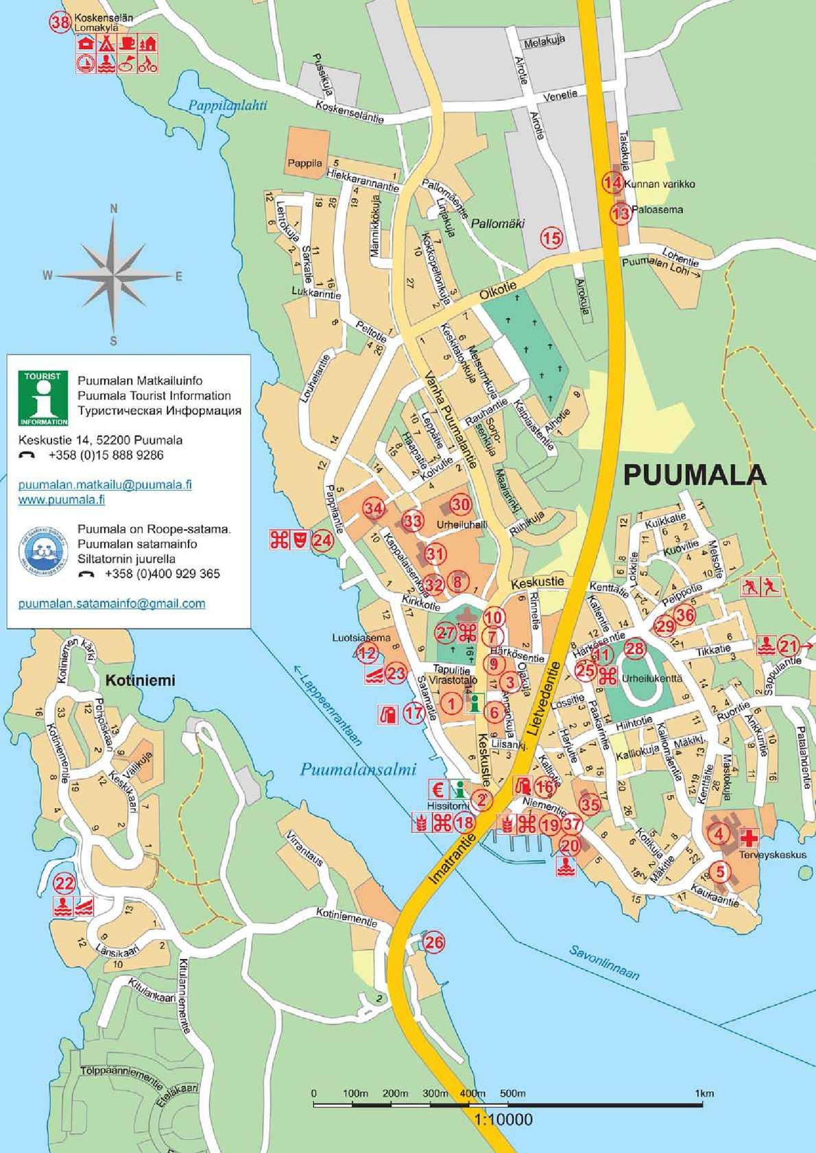 Calameo Puumala Kartta Map