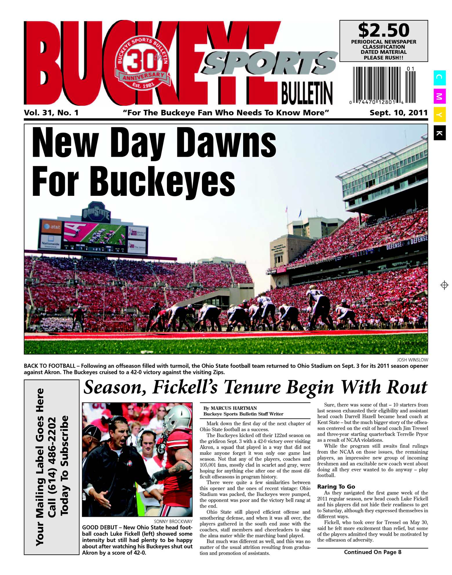 994af9ce07b5 Calaméo - Buckeye Sports Bulletin September 5