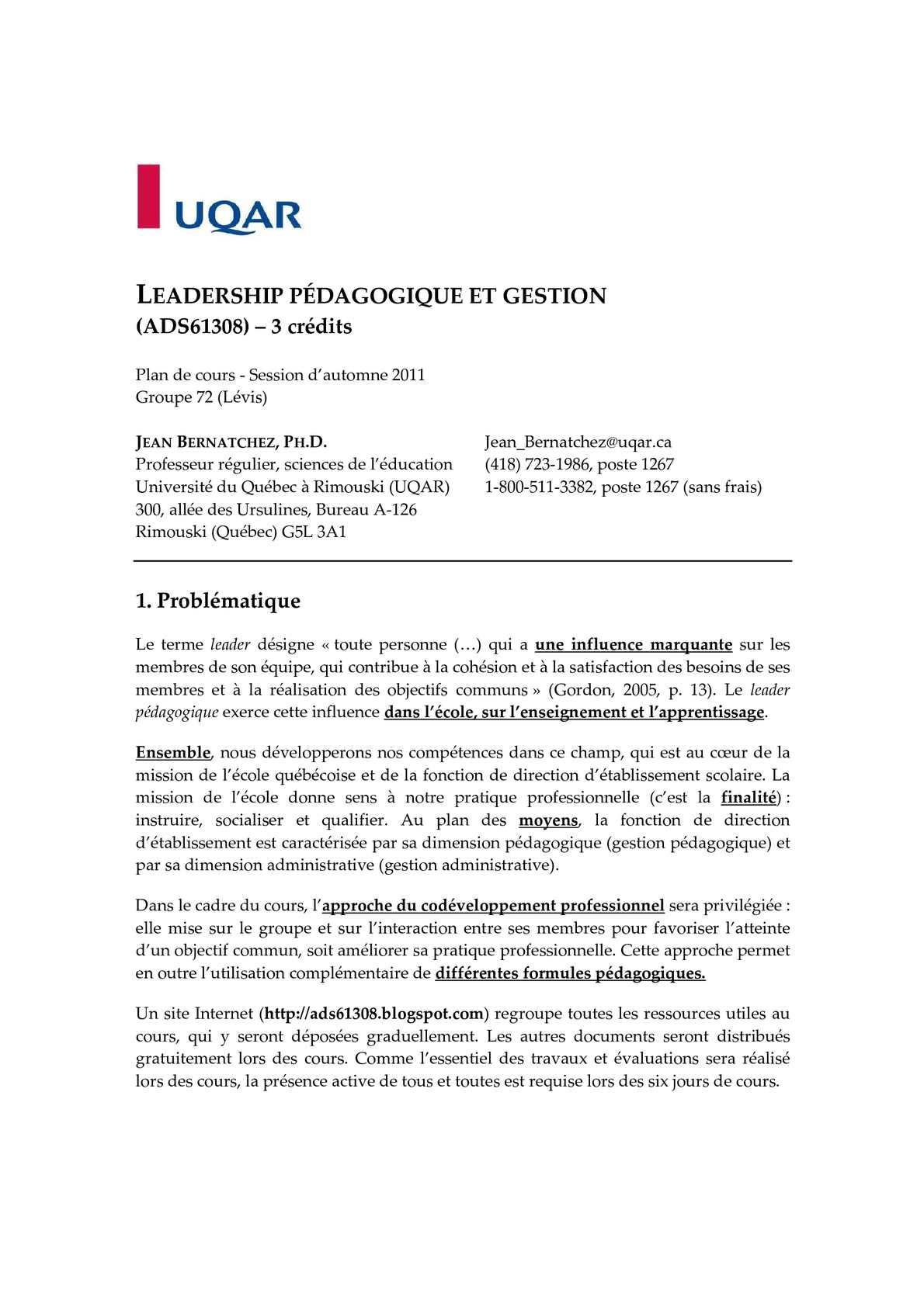 Gestion Plan De Calaméo Pédagogique Et CoursLeadership vIYf6yb7g