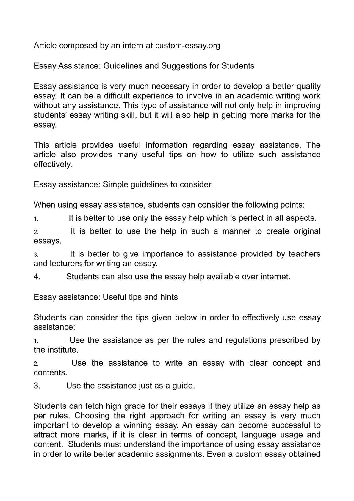 Original essays
