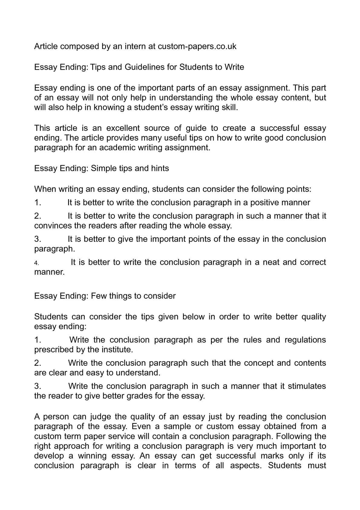 assignment essay tip writing