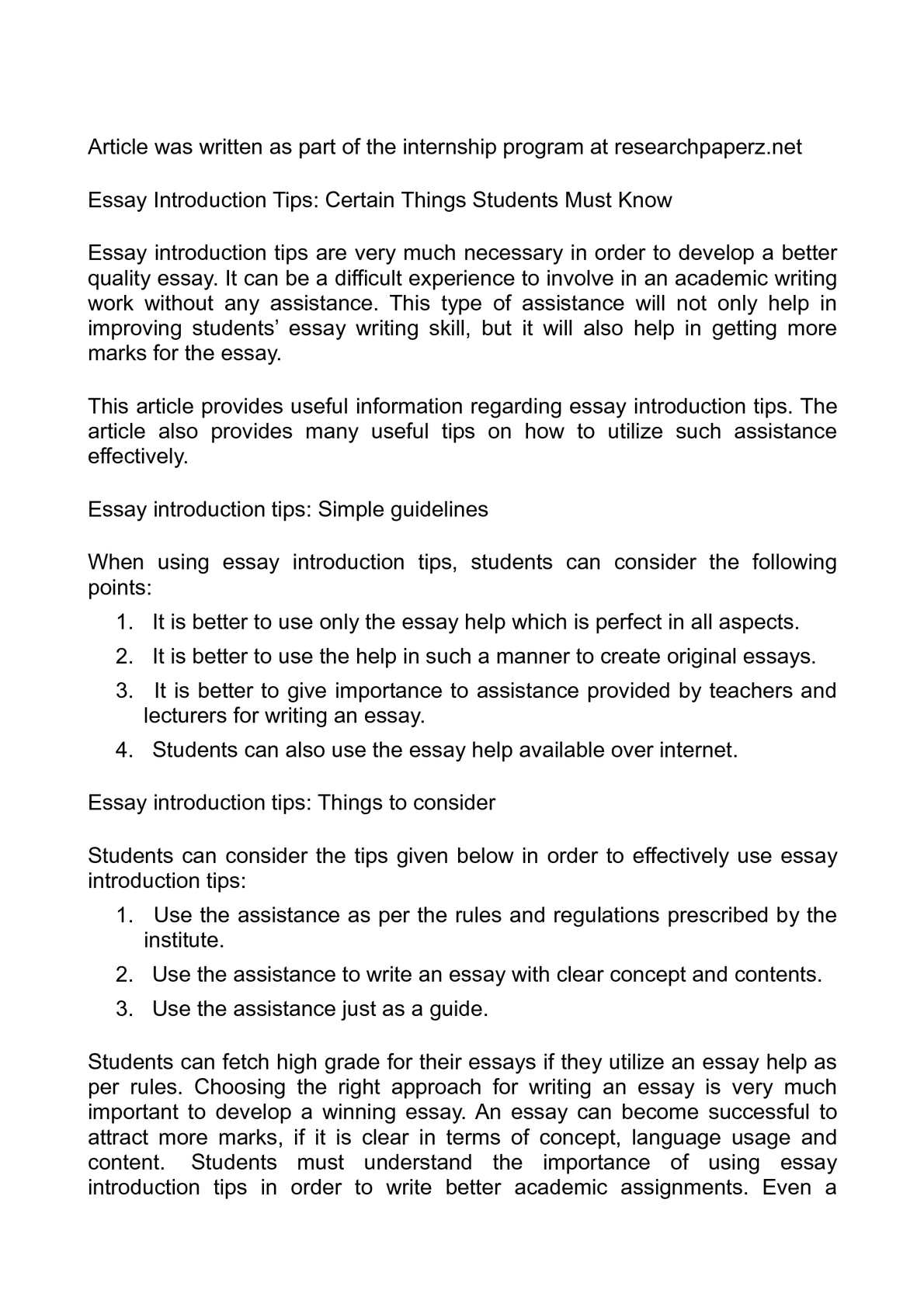 Introduction essay help creative letter writing