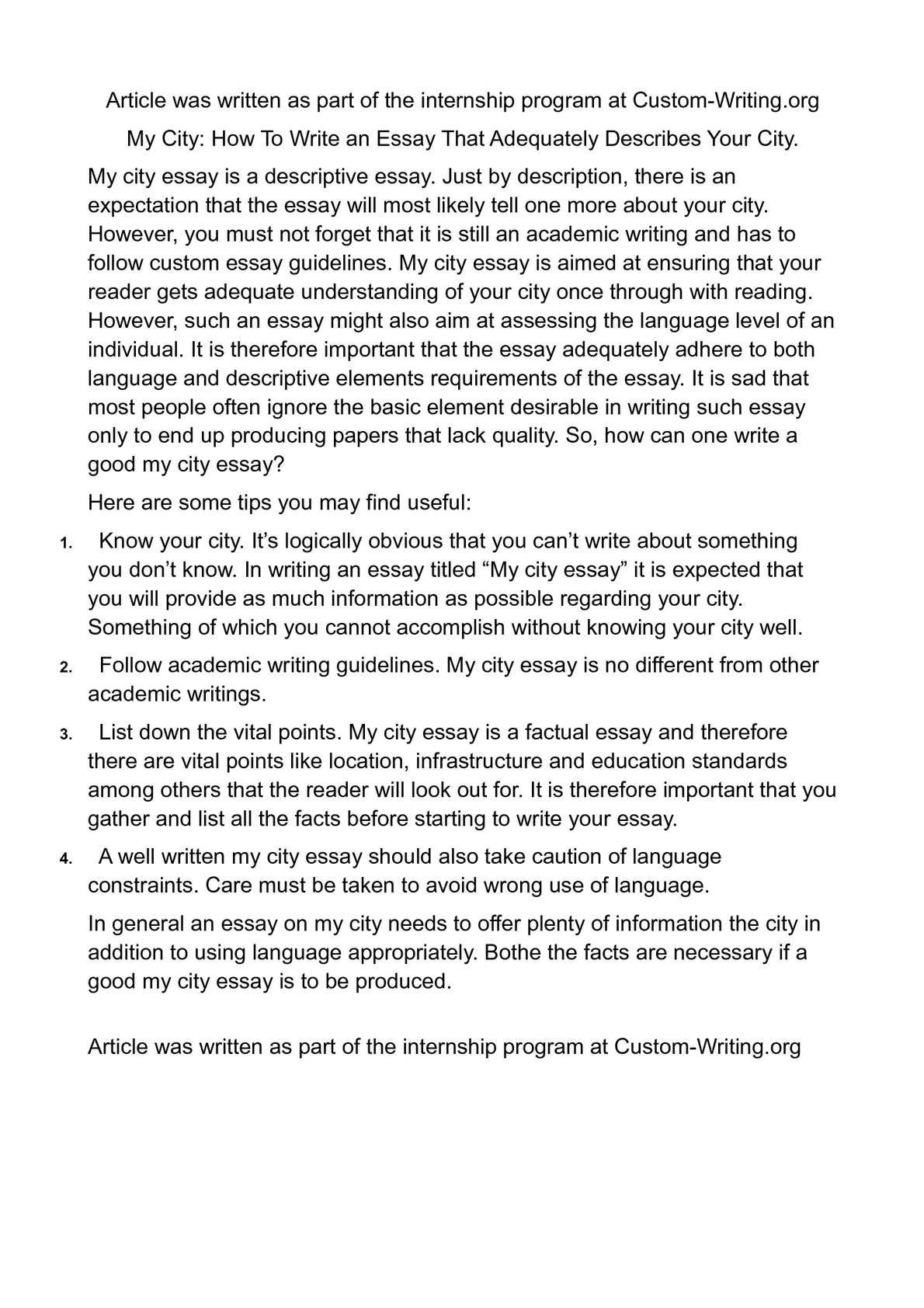 good descriptive essays calam atilde copy o my city how to write  calam atilde copy o my city how to write an essay that adequately describes calamatildecopyo my