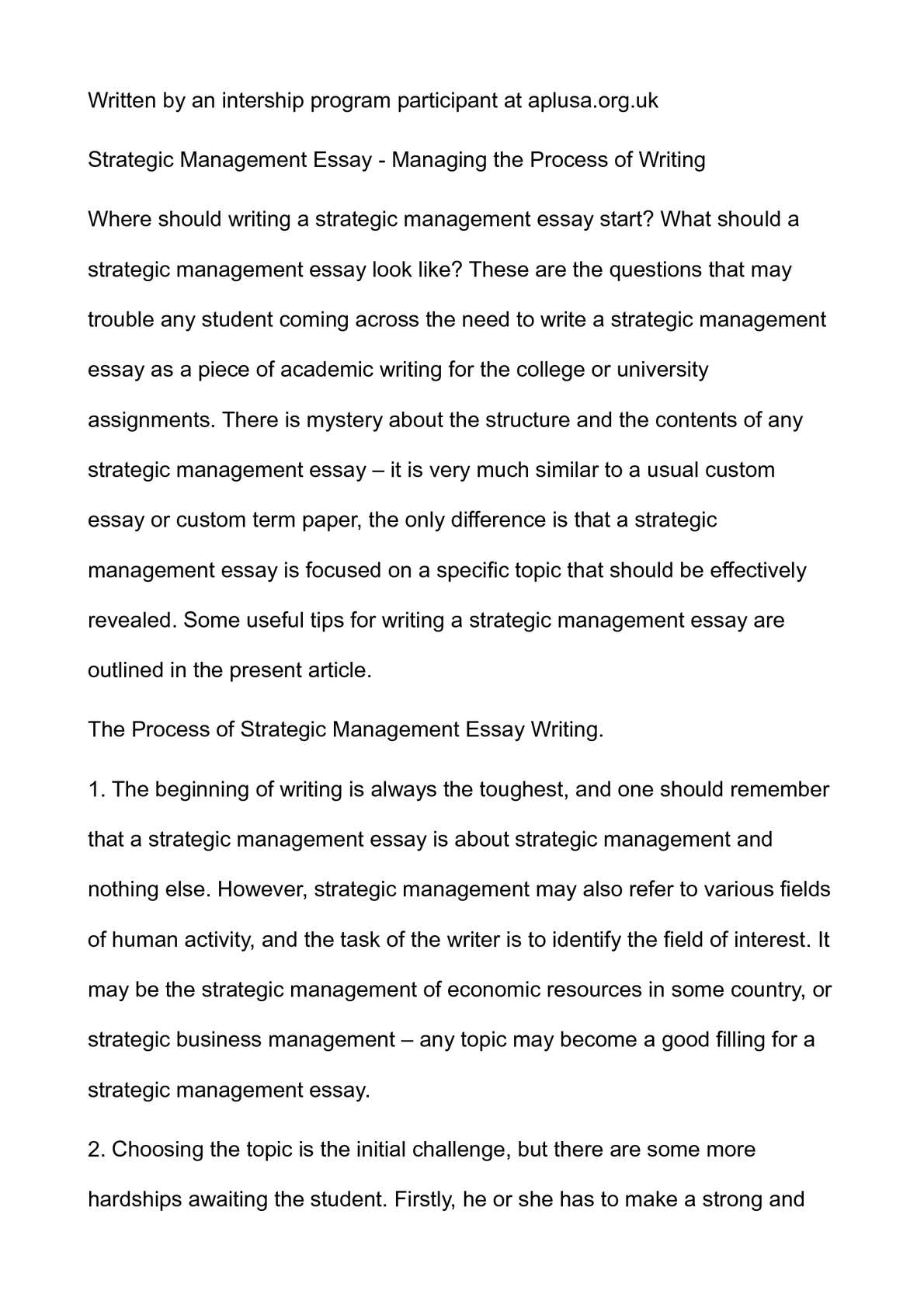Christmas Essay In English  Topics Of Essays For High School Students also Essay On Pollution In English Calamo  Strategic Management Essay  Managing The Process  Science Essay