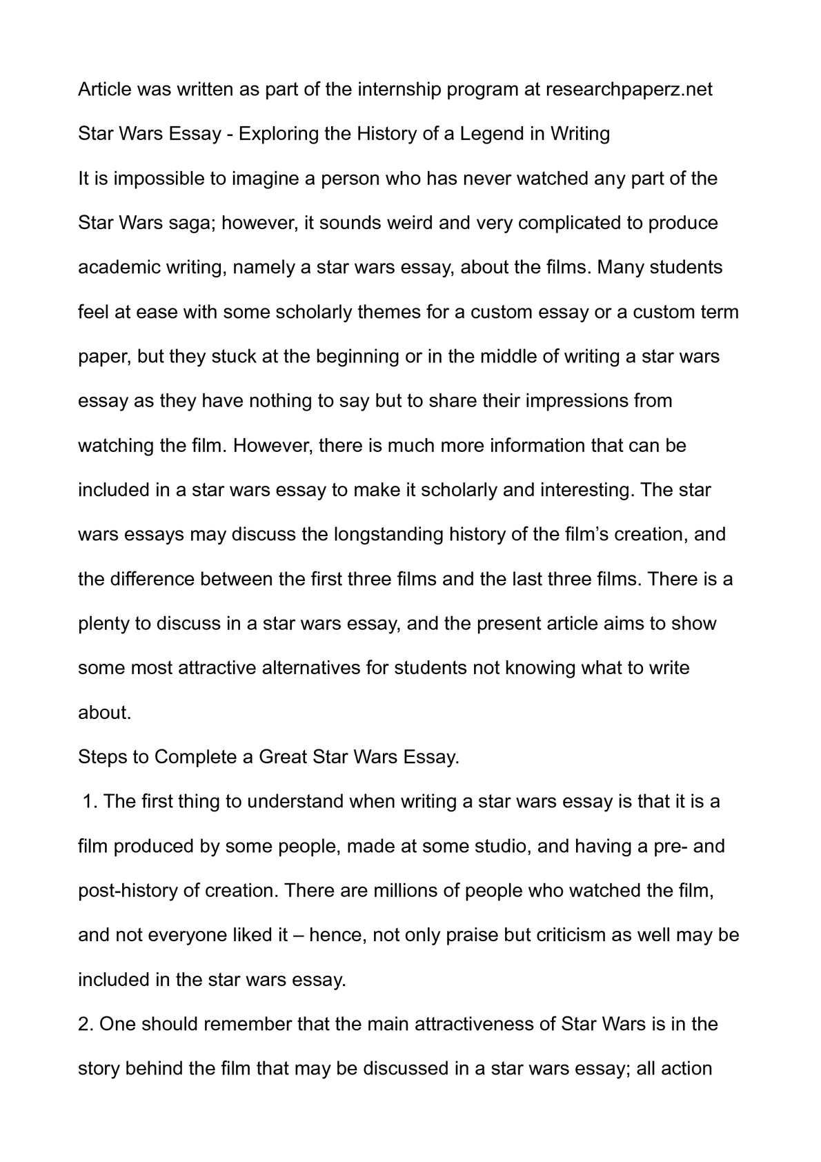 High School Essay Help Star Wars Essays Essay Ring Theory Mike Klimo Modern Science Essay also Professional Writing Help Star Wars Essay  Mistyhamel Good High School Essay Examples