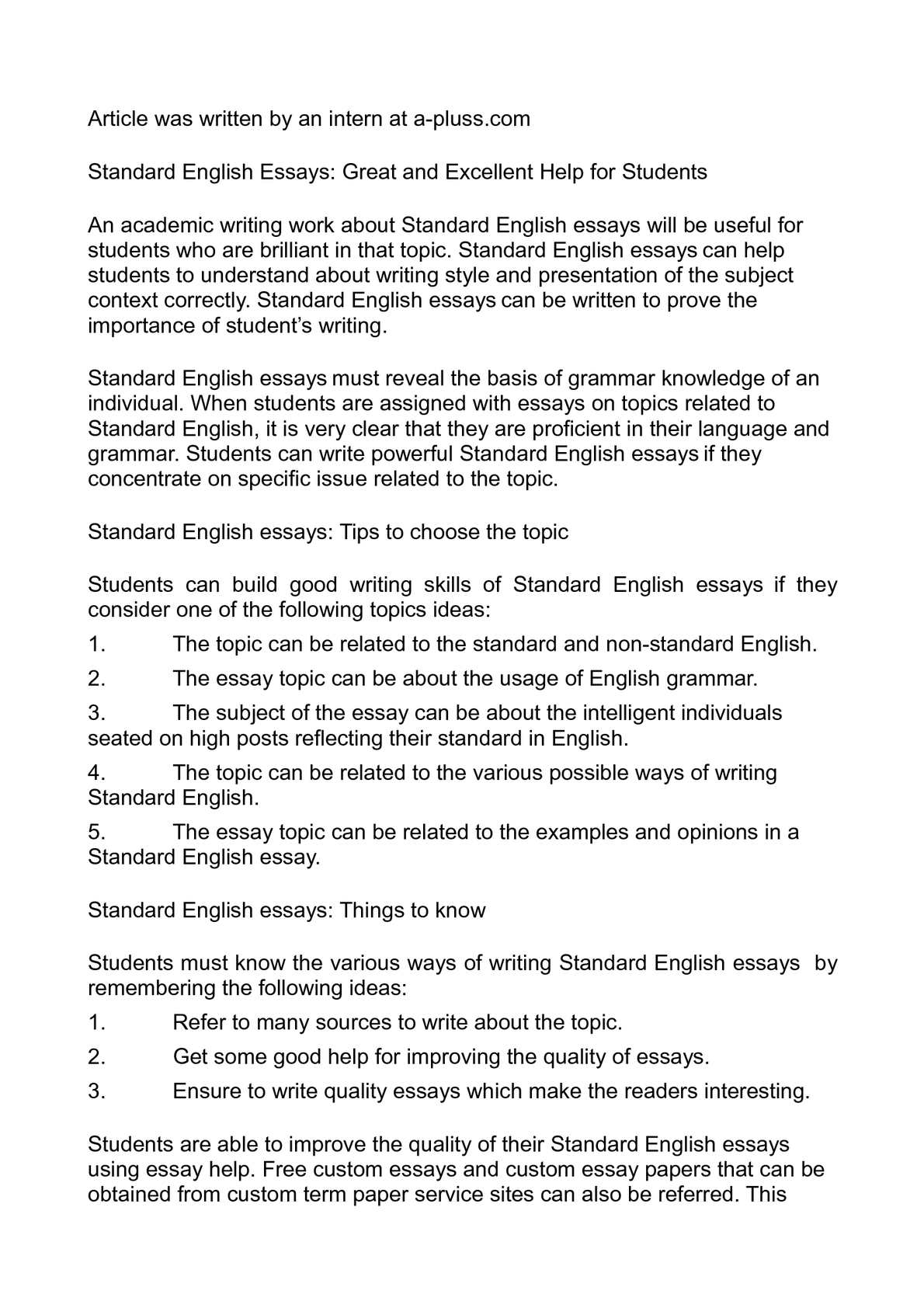 Argumentative Essay On Racism  Essay On Advertising Good Or Bad also Essay On War Against Terrorism Calamo  Standard English Essays Great And Excellent Help  Observation Essay