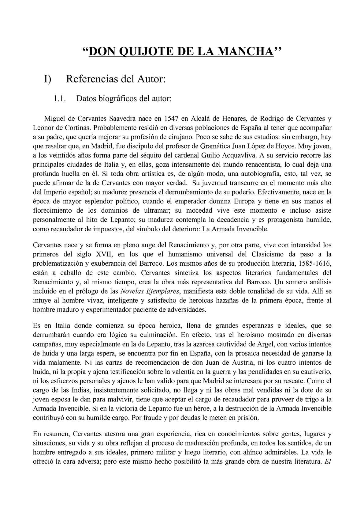 Calaméo Don Quijote De La Mancha Analisis De La Obra