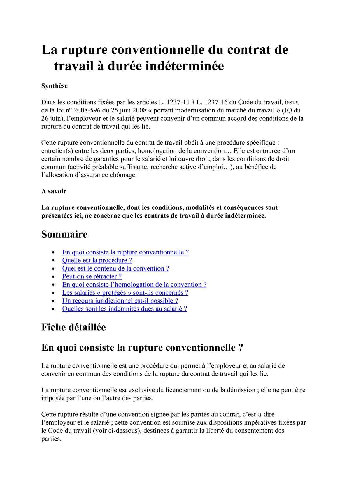 915bc72f725 Calaméo - LA RUPTURE CONVENTIONNELLE CDI.