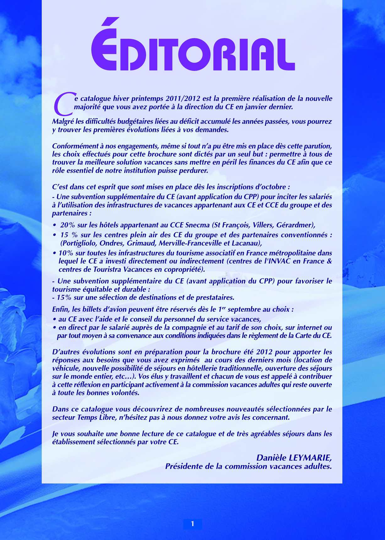 Calaméo - Catalogue Vacances Adultes Hiver Printemps 2011