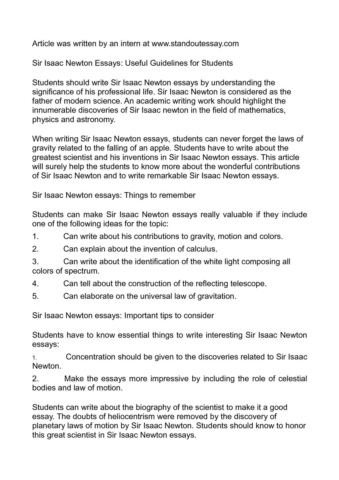 sir isaac newton essays useful guidelines for students