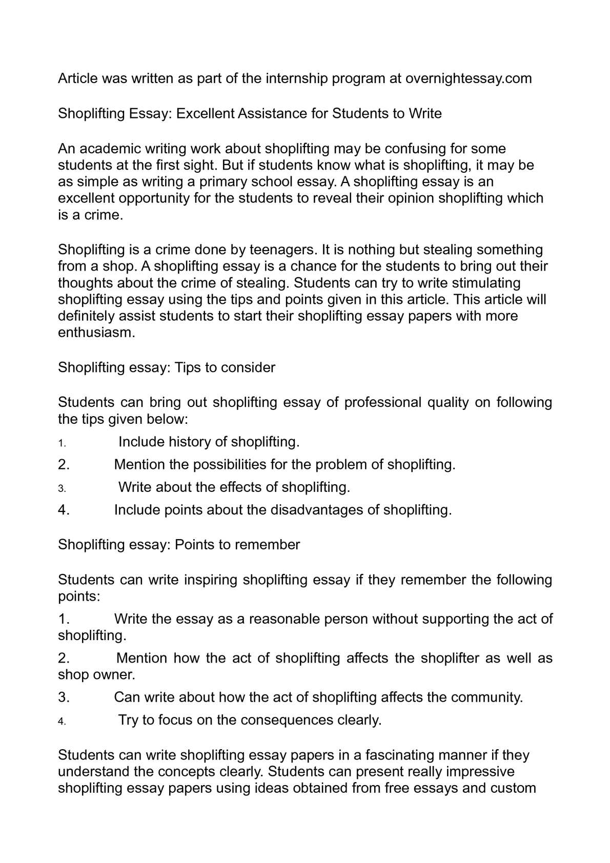 how does shoplifting affect consumers