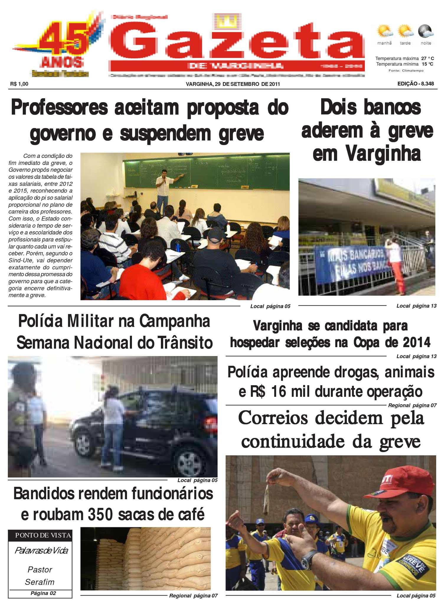 3127276378 Calaméo - Jornal Gazeta de varginha 29 09 2011