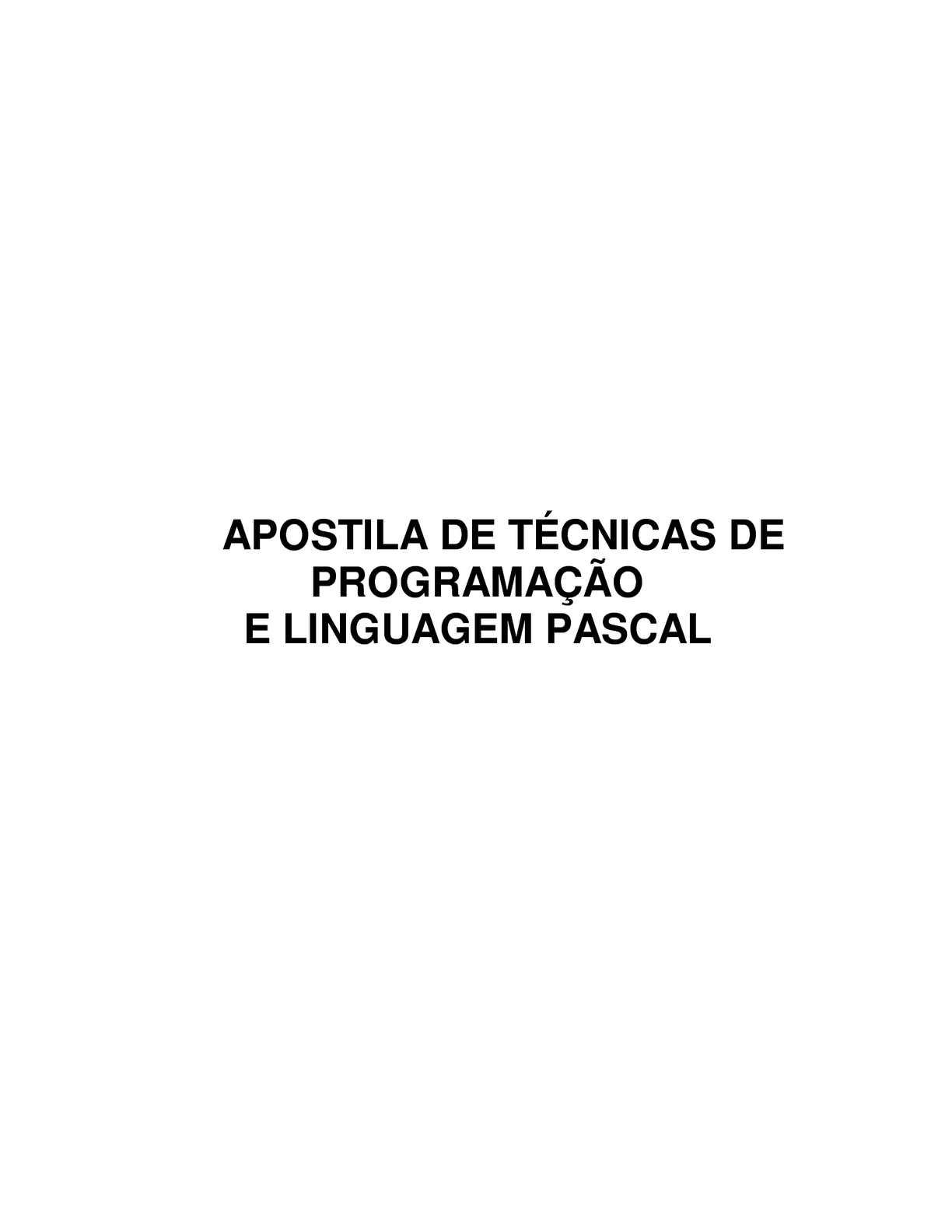 apostila pascal