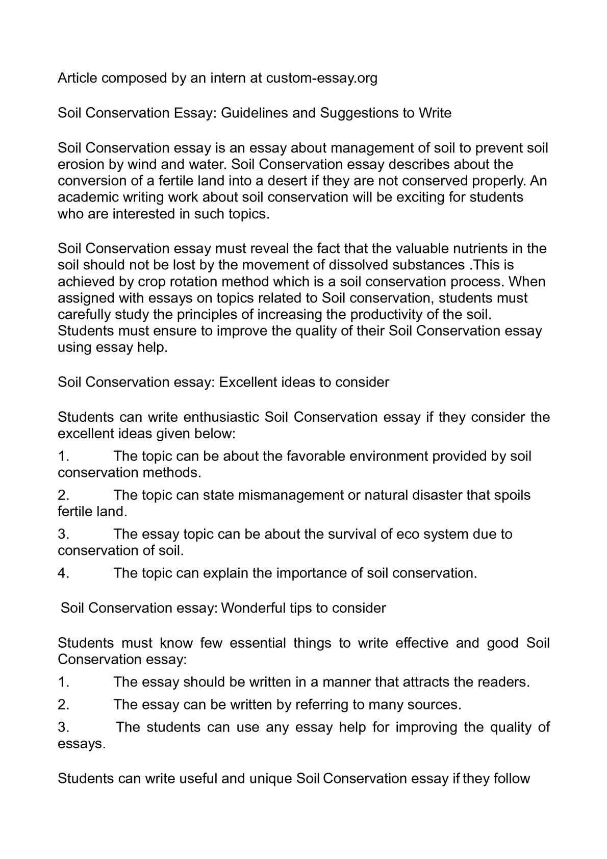 paragraph on water conservation