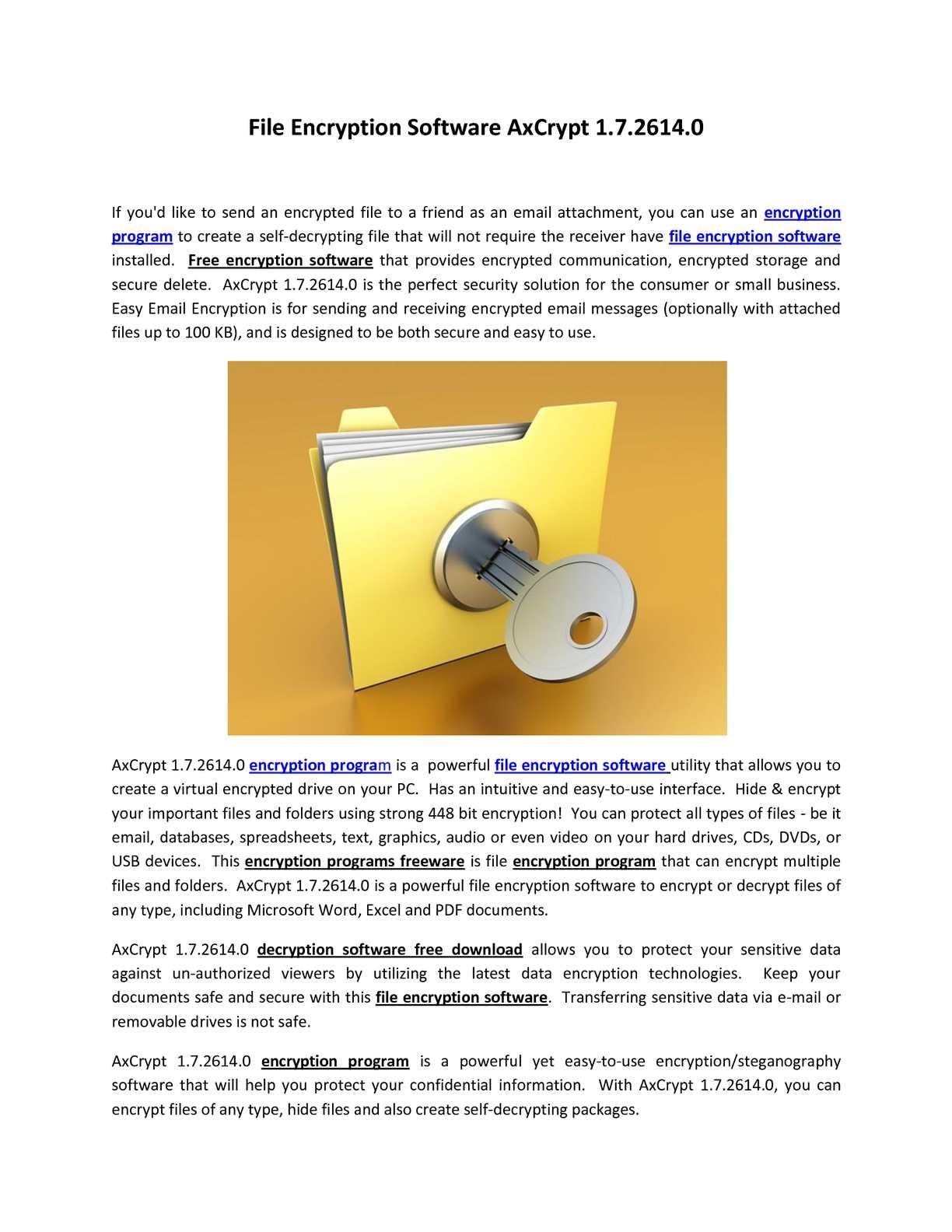 Calaméo - File Encryption Software AxCrypt 1 7 2614 0