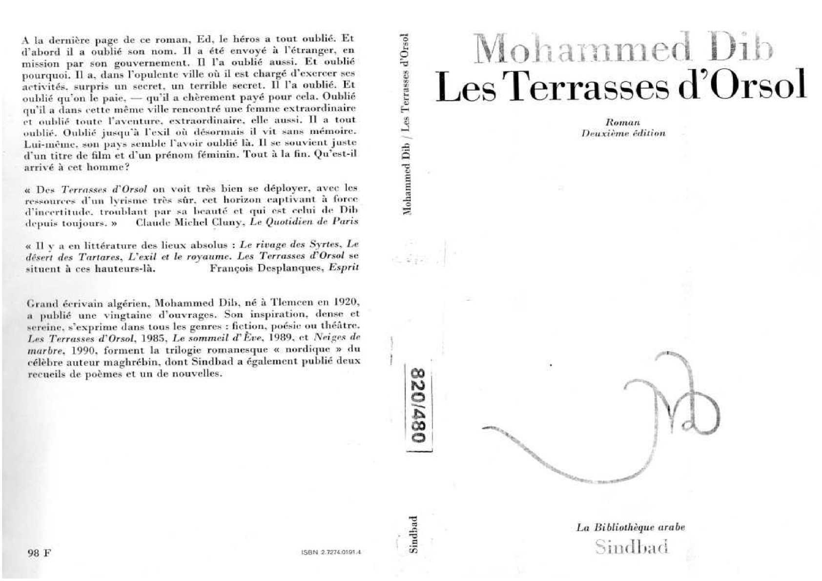 Calaméo Mohammed Dib Les Terrasses Dorsol