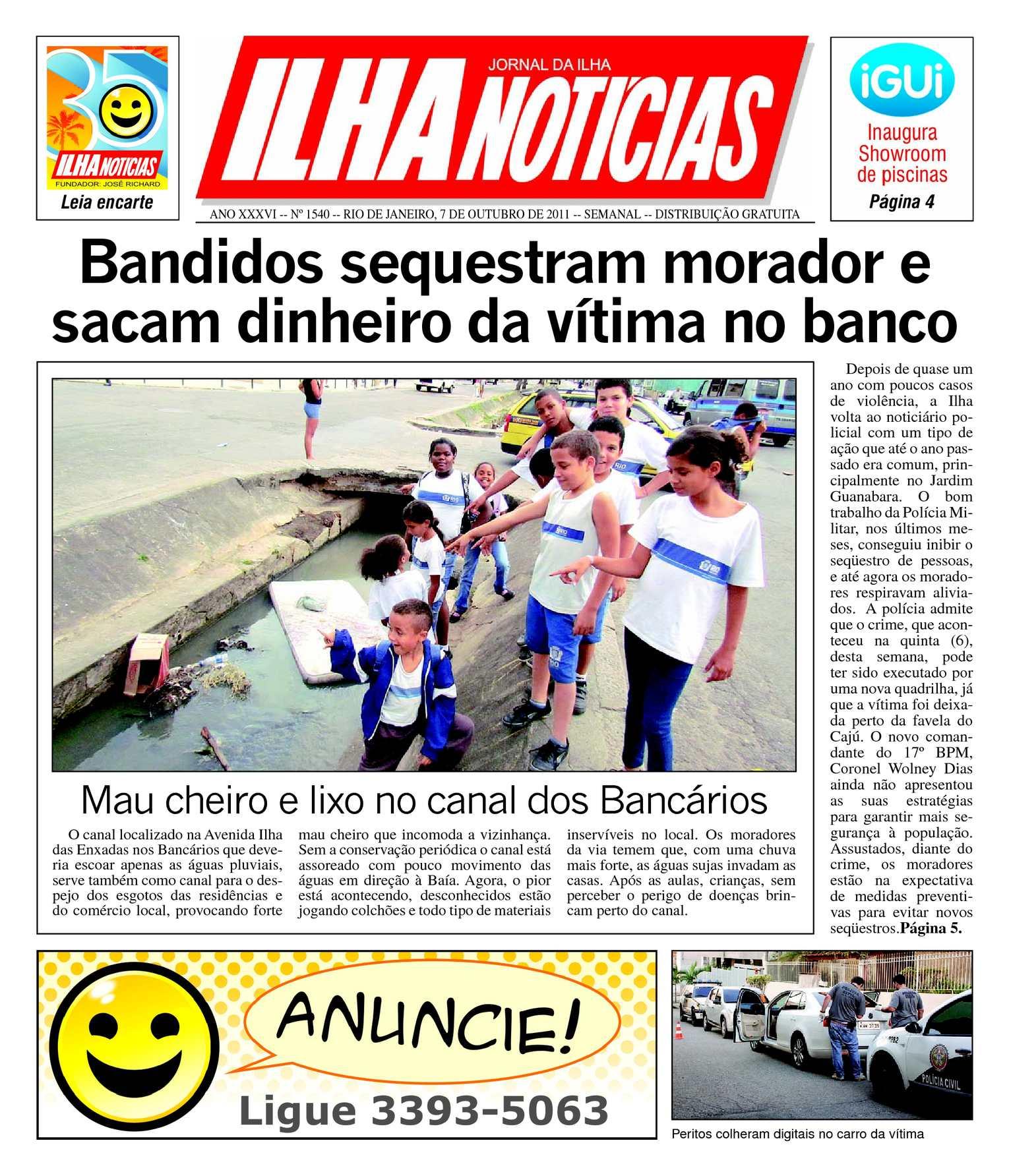926ccaa5765 Calaméo - Jornal Ilha Notícias - Edição 1540 - 07 10 2011
