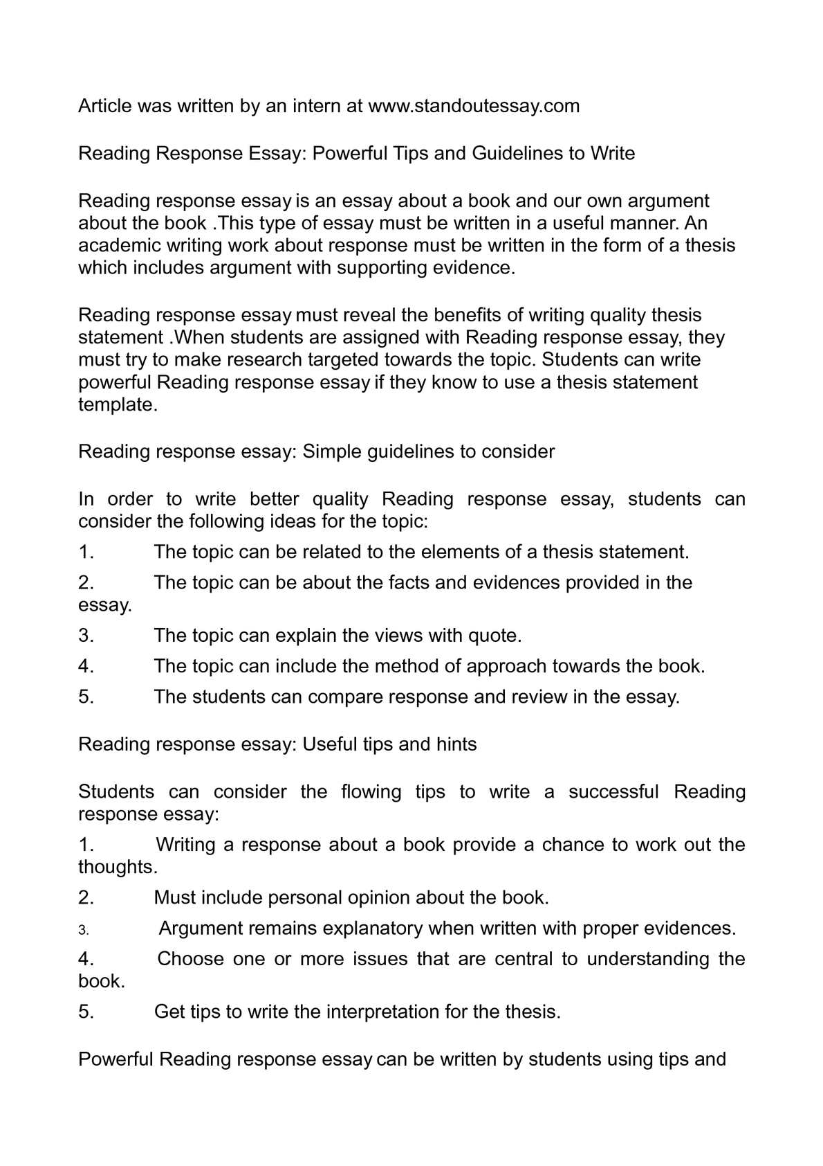 Thesis Statement For Analytical Essay  A Healthy Mind In A Healthy Body Essay also Jane Eyre Essay Thesis Calamo  Reading Response Essay Powerful Tips And  Essay Health Care
