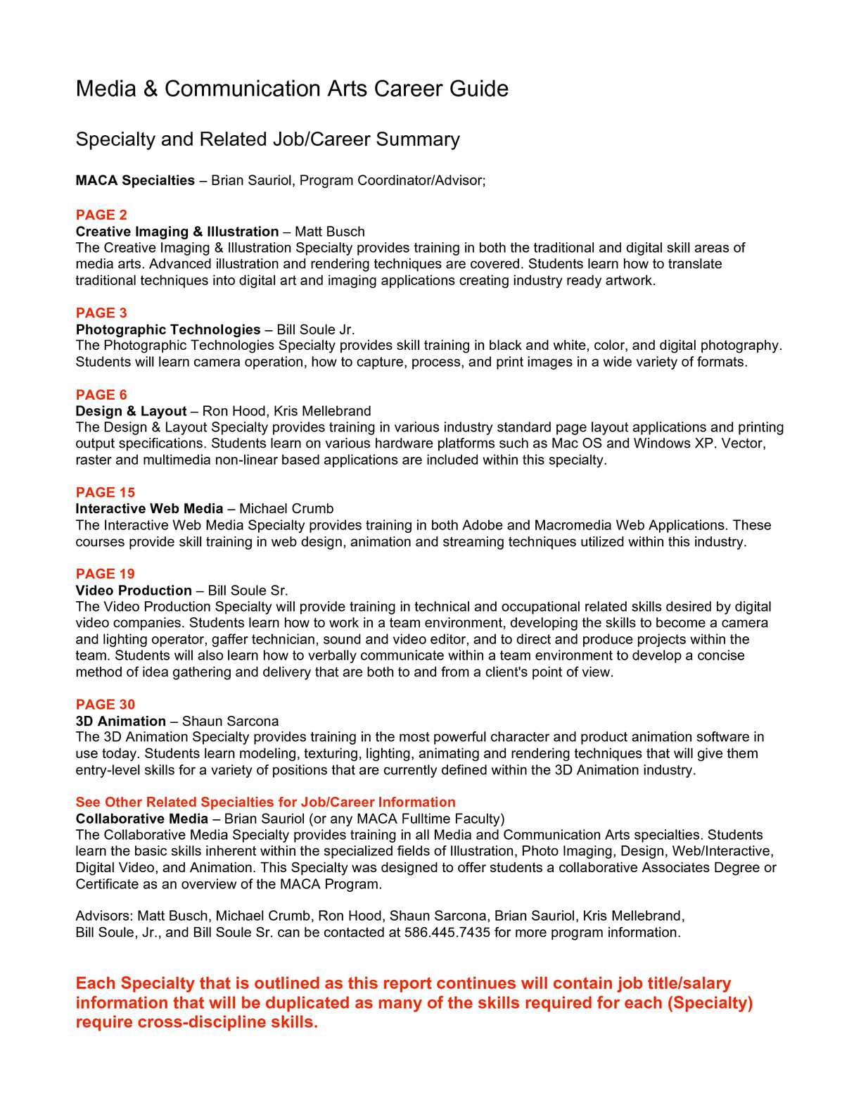 Calameo Maca Career Guide 2011