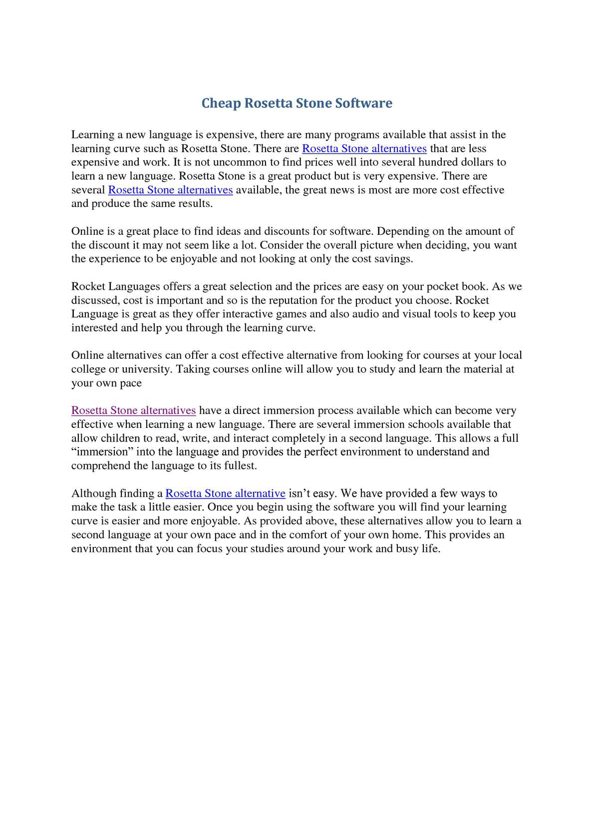 Calaméo - Cheap Rosetta Stone Alternatives