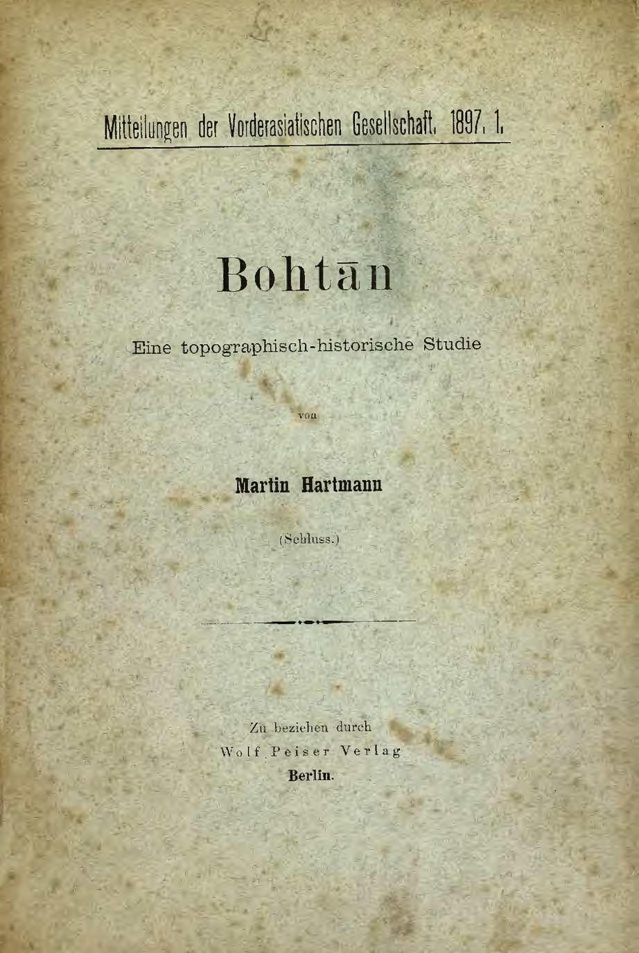 Bohtan - eine topographisch-historische studie II