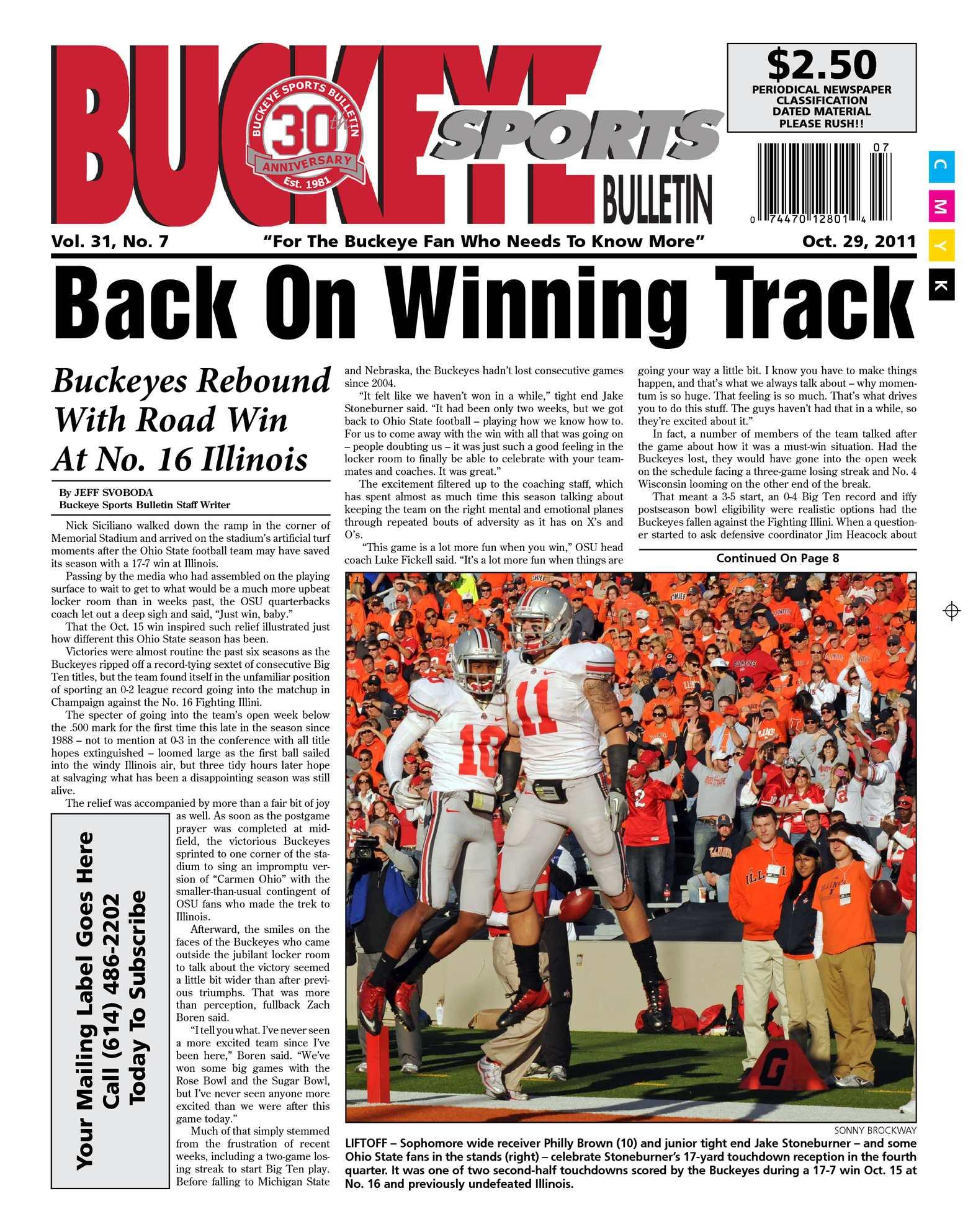 fdd2b635be8 Calaméo - Buckeye Sports Bulletin October 29, 2011 Print Edition